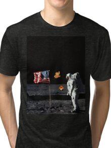 Goombas on the Moon  Tri-blend T-Shirt