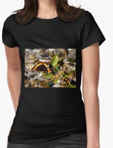 Balancing Butterfly Womens Fitted T-Shirt