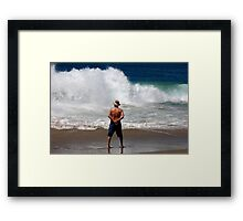 Man power is nothing... Framed Print