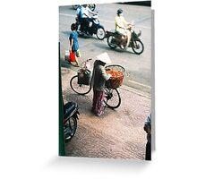 Biking around Greeting Card