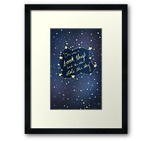 Book Thief/Sky Stealer 2.0 Framed Print