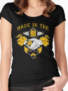 Made in the USA tattoo design Hope Women's Fitted Scoop T-Shirt