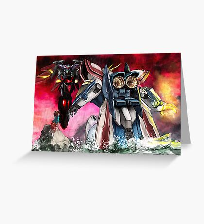 Gundam Fight! Greeting Card