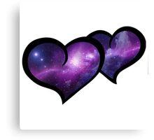 Galaxy Infinity Hearts Canvas Print