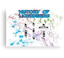 History of Lightsabers Canvas Print
