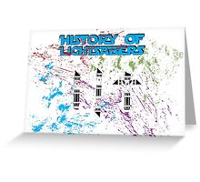 History of Lightsabers Greeting Card