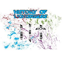 History of Lightsabers Photographic Print
