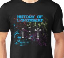 History of Lightsabers Unisex T-Shirt