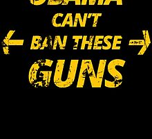 OBAMA CAN'T BAN THESE GUNS by birthdaytees