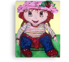 """Strawberry Doll"" Canvas Print"