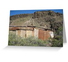 derelict boat shed Greeting Card