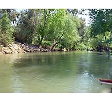 Rafting on the Jordan river Photographic Print