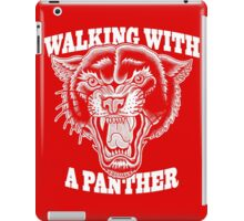 Walking with a panther tattoo design iPad Case/Skin