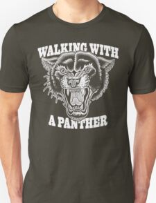 Walking with a panther tattoo design Unisex T-Shirt