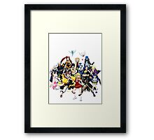 The whole gang Framed Print
