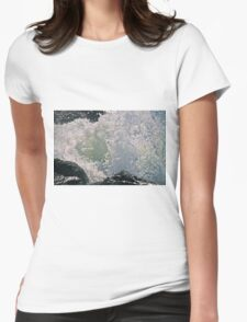 Wave Breaking On Rocks Womens Fitted T-Shirt