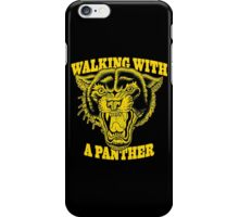 Walking with a panther tattoo design iPhone Case/Skin