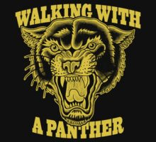 Walking with a panther tattoo design by kelvarnsen