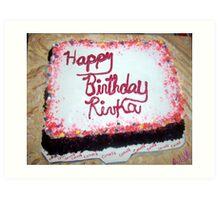 """Birthday Cake"" Art Print"