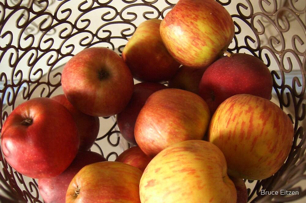 Basket of apples by Bruce Eitzen