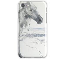 Wild Horses Drawing iPhone Case/Skin