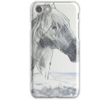 Horse Head Drawing iPhone Case/Skin