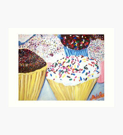 """Cupcakes With Sprinkles"" Art Print"