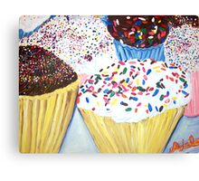 """Cupcakes With Sprinkles"" Canvas Print"