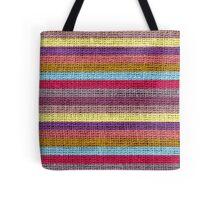 Vintage Colored Stripes Burlap Linen Rustic Jute Tote Bag