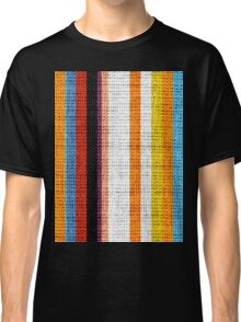 Colored Stripes Burlap Linen Rustic Jute Classic T-Shirt