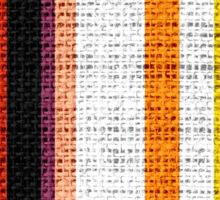 Colored Stripes Burlap Linen Rustic Jute Sticker