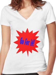 Cartoon Women's Fitted V-Neck T-Shirt