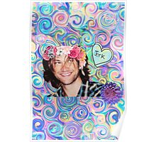 Flower Crown Sam Winchester Poster