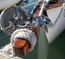 Bowsprit Brightwork by sailgirl