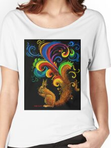 Psychedelic Squirrel  Women's Relaxed Fit T-Shirt