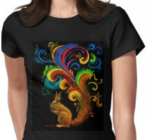 Psychedelic Squirrel  Womens Fitted T-Shirt