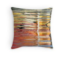 Red and yellow reflections Throw Pillow