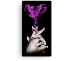 Love Smoke Canvas Print