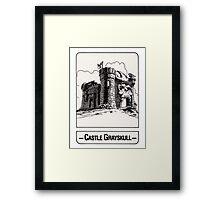 He-Man - Castle Grayskull - Trading Card Design Framed Print