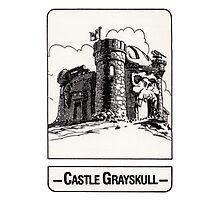 He-Man - Castle Grayskull - Trading Card Design Photographic Print