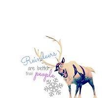 Reindeers are better than people by blainepumpkin
