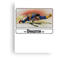 He-Man - Dragstor - Trading Card Design Canvas Print