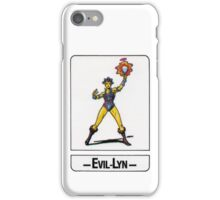 He-Man - Evil-Lyn - Trading Card Design iPhone Case/Skin