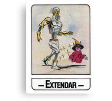 He-Man - Extendar - Trading Card Design Canvas Print
