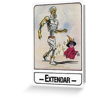 He-Man - Extendar - Trading Card Design Greeting Card