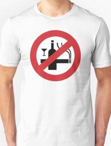 NO Smoking Alcohol Sign Unisex T-Shirt