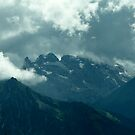 Clouds over Drusenfluh by Lenka