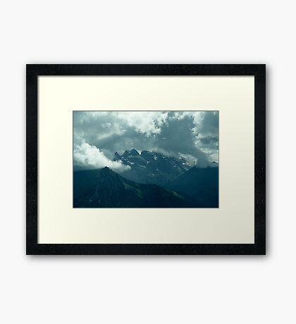 Clouds over Drusenfluh Framed Print