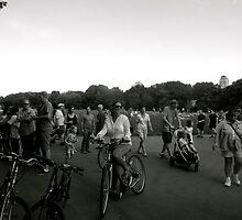 Women on a bike  by virginiatpuri