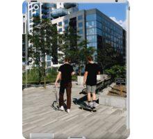 Skateboarders in New York  iPad Case/Skin